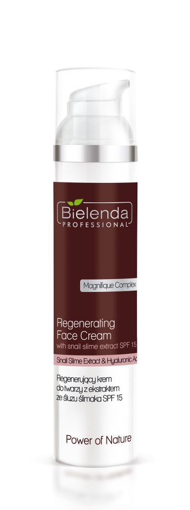 Bielenda REGENERATING FACE CREAM WITH SNAIL SMILE EXTRACT Regenerujący krem do twarzy ze śluzem ślimaka SPF 15, 100 ml